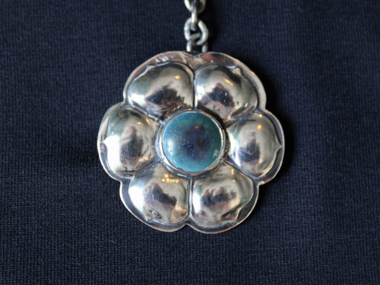 A E Jones silver cloak clasp