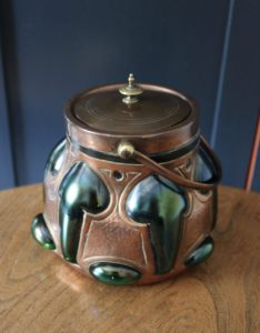 Faulkner Bronze Co biscuit barrel