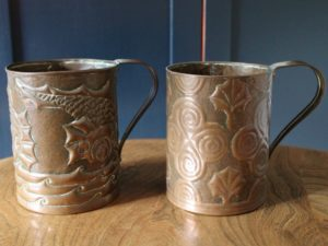 Yattendon copper tankards