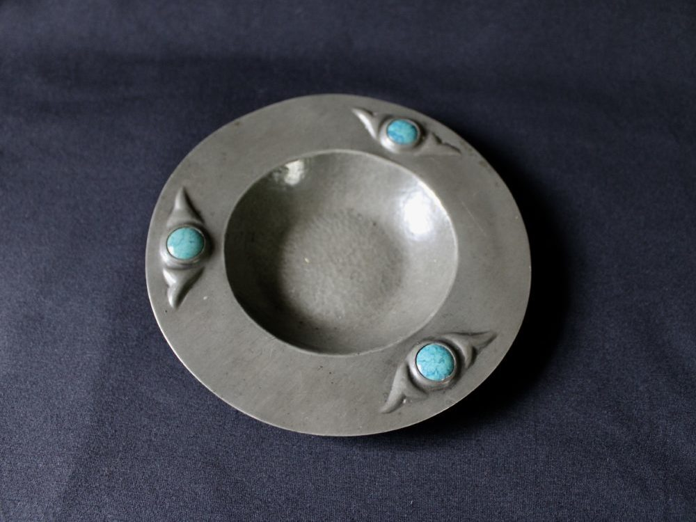 Potteries Guild of Cripples pewter dish