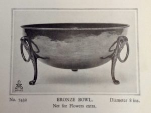 Dryad Metal Works bronze bowl