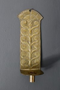 Yattendon brass candle sconce