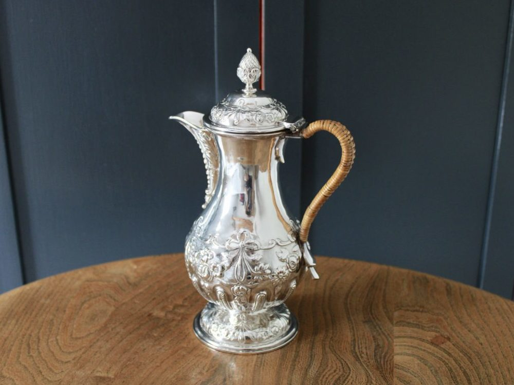 D.S.C.G. silver plated hot water jug