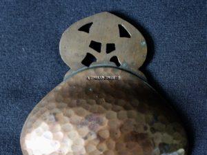 A E Jones bronze caddy spoon