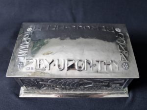A E Jones silver casket