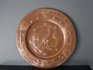 Faulkner Bronze copper charger