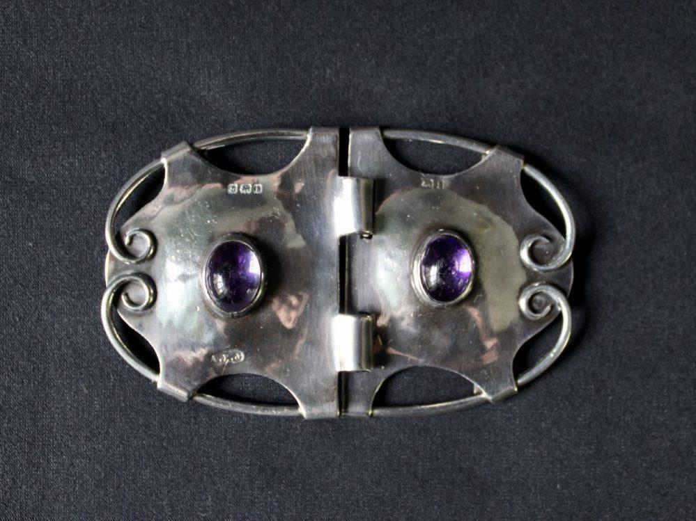 A E Jones silver buckle