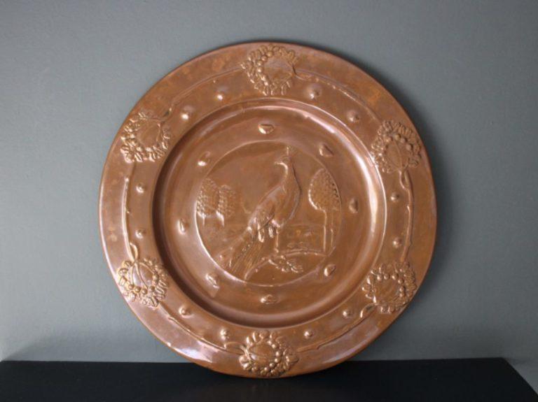Faulkner Bronze copper charger