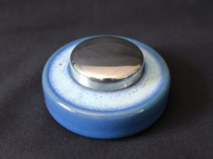 Ruskin Pottery inkwell