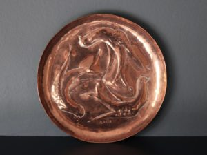 Herbert Dyer copper dish