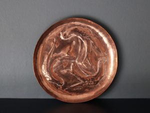 Herbert Dyer copper dish