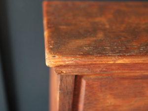 Arthur W Simpson oak stationery cabinet