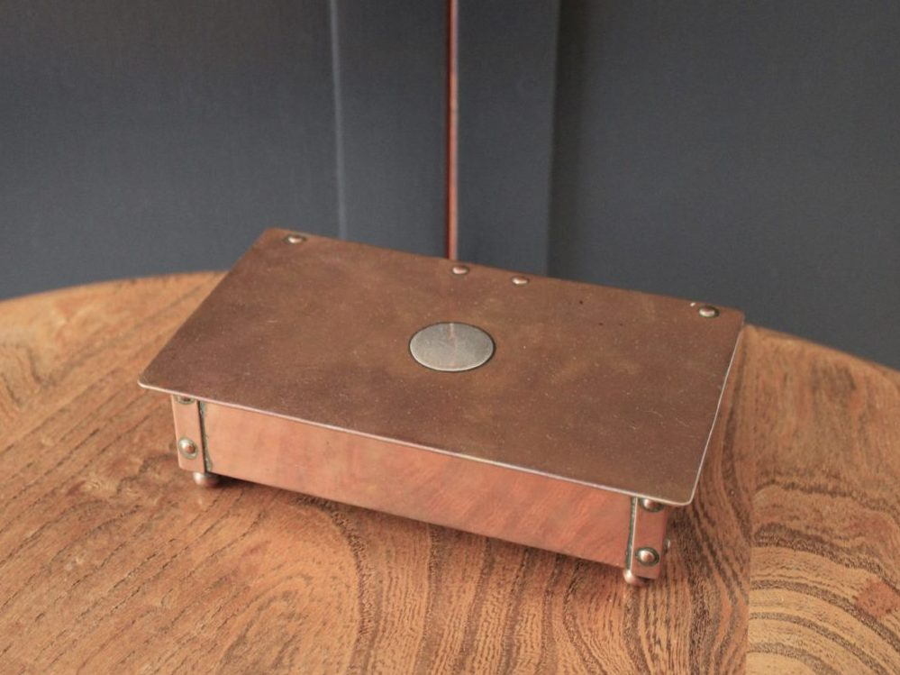 Duchess of Sutherland Cripples Guild copper cigarette box