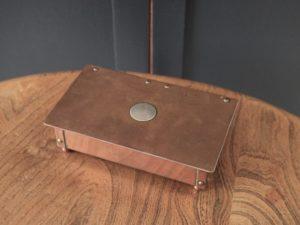 Duchess of Sutherland Cripples Guild copper cigarette box