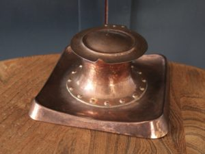 Richard Ll. Rathbone copper inkwell