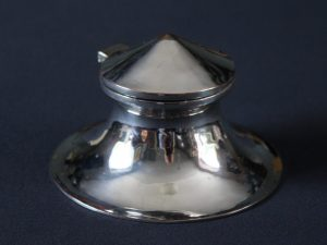 D.S.C.G. silver plated inkwell