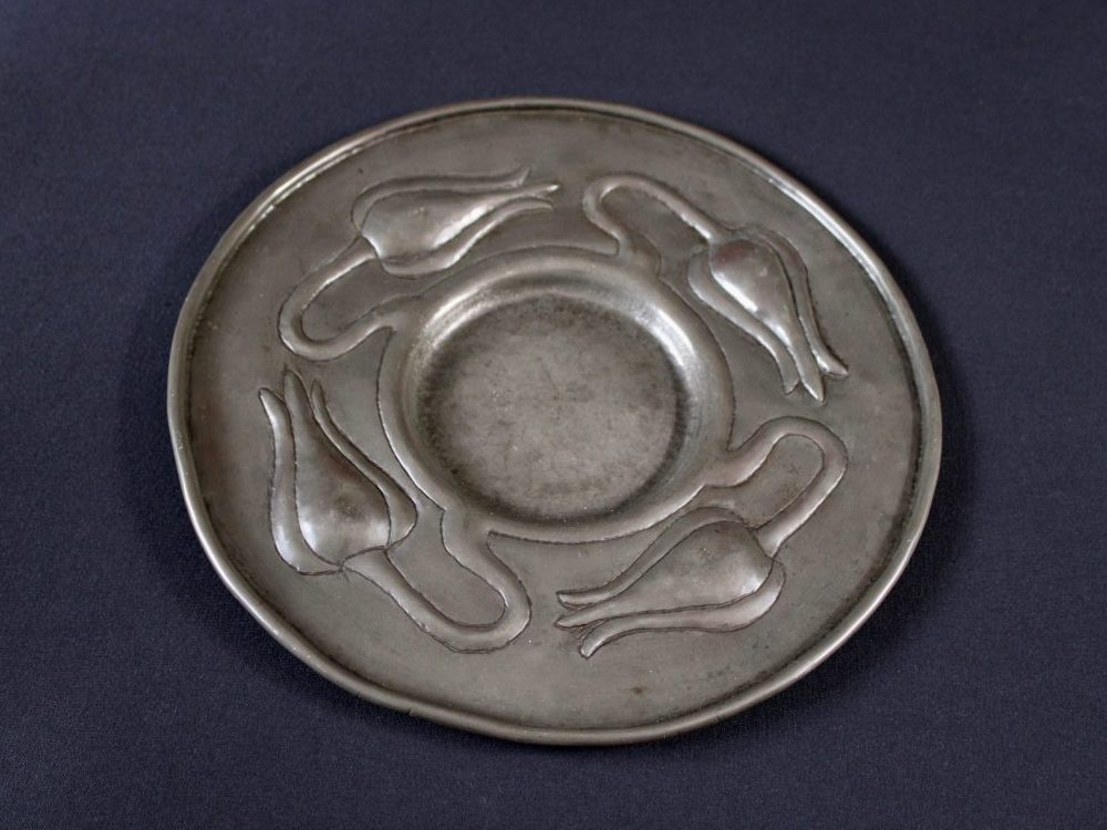 Norman and Ernest Spittle pewter plate