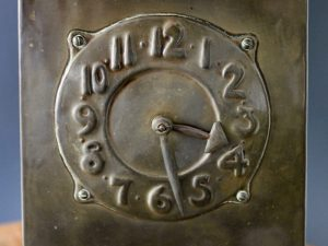 Norman and Ernest Spittle brass clock
