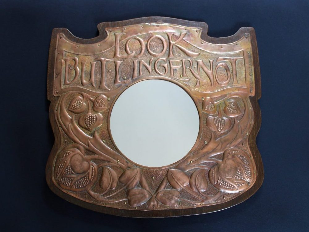 Newton School copper mirror