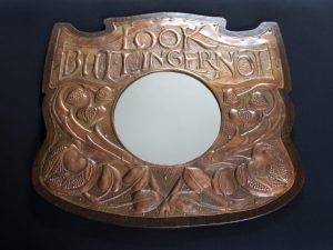 Newton school copper motto mirror