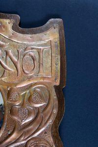 Newton school copper motto mirror