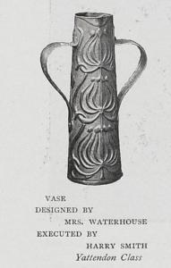 Yattendon School copper vase