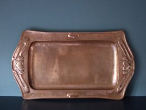 Potteries Guild of Cripples copper tray